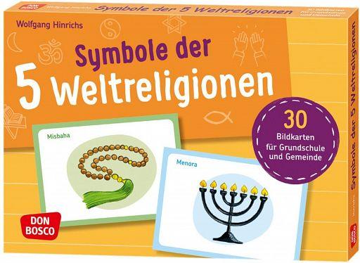 Symbole der 5 Weltreligionen