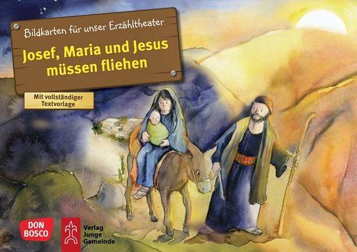 Bildkartenset - Josef & Maria & Jesus müssen fliehen