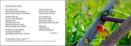 Leipziger Karte: Singvogel