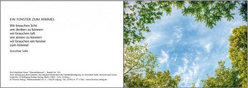 Leipziger Karte: Ein Fenster zum Himmel