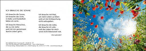 Leipziger Karte: Sonnengruß