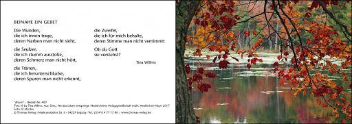 Leipziger Trauerkarte: Ahorn