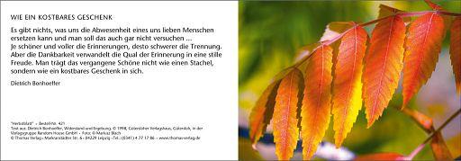 Leipziger Trauerkarte: Herbstblatt