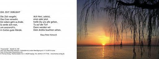 Leipziger Trauerkarte: Trauerweide
