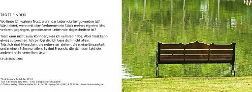 Leipziger Trauerkarte: Trost finden