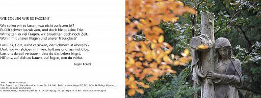 Leipziger Trauerkarte: Halt