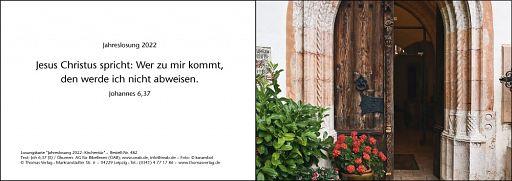 Leipziger Karte: Jahreslosung 2022 - Kirchentür