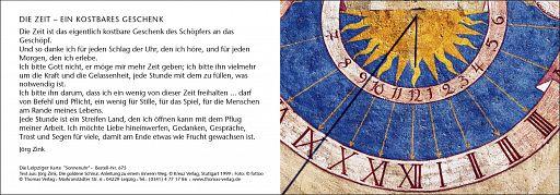 """Leipziger Karte """"Sonnenuhr"""""""