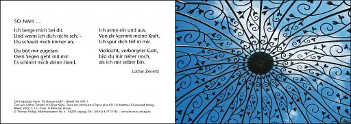 Leipziger Karte: Ich berge mich
