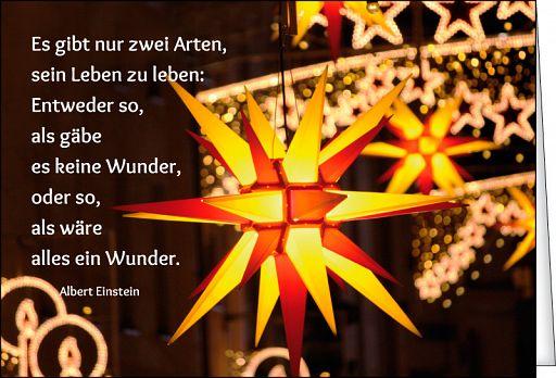 Leipziger Spruchkarte: Weihnachtsstern