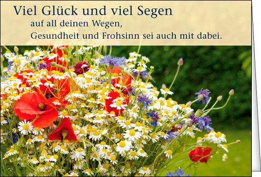 Leipziger Spruchkarte: Glück und Segen