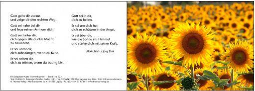 Leipziger Karte: Sonnenblumen
