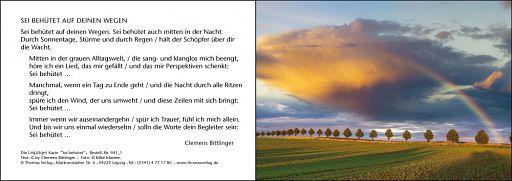 Leipziger Karte: Sei behütet