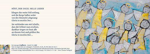 Leipziger Kunstkarte: Engelslieder - mit Text