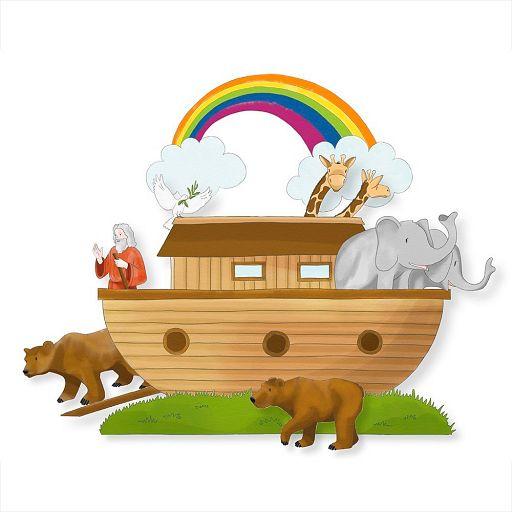 Bastelbogen Arche Noah
