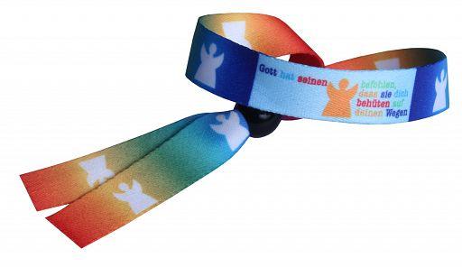 Armband, Umhängeband, Engel + Regenbogen