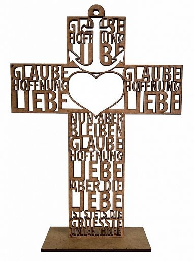Text-Kreuz Glaube Liebe Hoffnung
