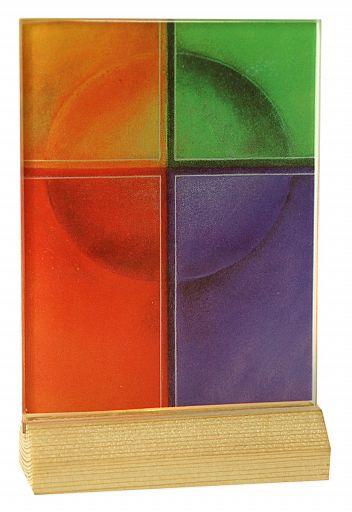 Lichtsymbol: Kreuz Lebensfarben