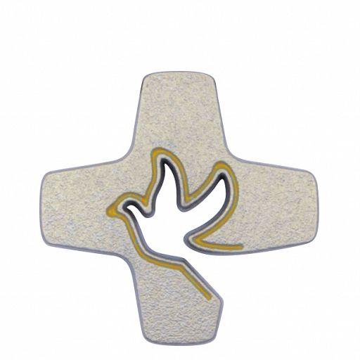 Pin Tauben-Kreuz gold
