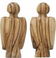 Handschmeichler-Engel aus Olivenbaumholz
