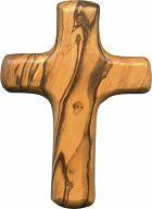 Holzkreuz aus Olivenbaumholz, klassisch, mittelgroß