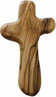 Großes Handkreuz, Holzkreuz aus Olivenholz