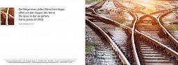 Bibelspruchkarte: Schienenwege