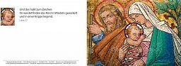 Bibelspruchkarte: Maria mit Kind