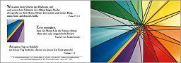 Bibelspruchkarte: Schirm Farben - Psalm 91,1-2