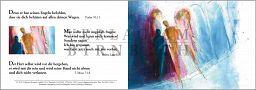 """Faltkarte Bahlinger """"Begegnung"""" - Psalm 91,11"""