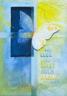 "Postkarte ""Ich lebe (JL2008)"" DIN A6"