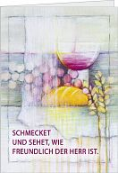 "Abendmahlkarte Bahlinger ""Schmecket und sehet..."""