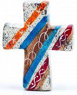 Kreuz aus Speckstein, African Summer 4 - fair produziert