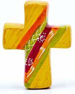 Kreuz aus Speckstein, African Summer 5 - fair produziert
