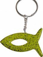 Speckstein-Schlüsselanhänger Fisch, grün
