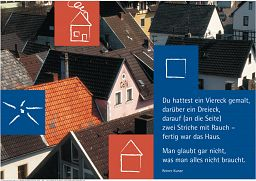 """Schaukastenposter 5 """"Dächer"""""""