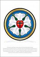 Poster Kirchenjahr - A3, Lutherrose