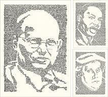 Portraitposter-SET, Bonhoeffer, Luther, Martin Luther King Poster