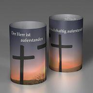 Lichtmotive - Osterkreuze, Der Herr ist auferstanden