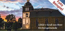 Fensterbilder mit Ihrem LOGO + Gemeindegruß