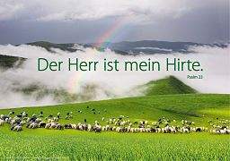 """Fensterbilder """"Der Herr ist mein Hirte"""", Psalm 23"""