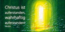 """Fensterbilder """"Auferstanden"""", Bahlinger"""