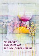 """Fensterbilder """"Abendmahl - Schmecket und sehet"""", Bahlinger"""