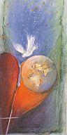 """Fensterbild Pfingsten, """"Holy Spirit"""" Bahlinger"""