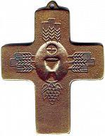 Große Erntedankkreuze, Kelch und Ähren, aus Bronze