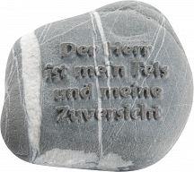 """Stein mit Psalm """"Der Herr ist mein Fels ..."""""""