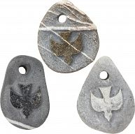 Stein Anhänger mit Gravur …