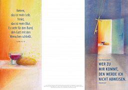 10erSet PC Faltschein, Faltkarte - Jahreslosungskarte zum Bedrucken
