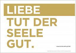 LIEBE TUT GUT - Poster A4 LIEBE / HASS