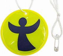 Reflektor-Engel rund, leuchtend gelb